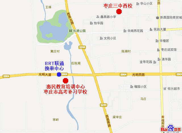 枣庄市惠民教育培训中心地理位置